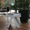 Table d'appoint Toy, Slide Design blanc