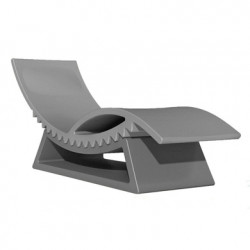 Chaise longue et table basse Tic Tac, Slide Design gris