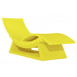 Chaise longue et table basse Tic Tac, Slide Design jaune