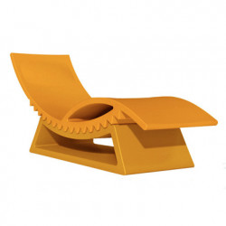 Chaise longue et table basse Tic Tac, Slide Design orange