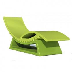 Chaise longue et table basse Tic Tac, Slide Design vert pomme