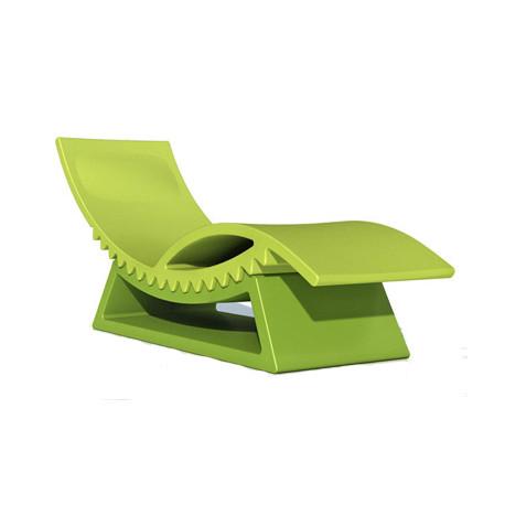 Chaise Longue Et Table Basse Tic Tac Slide Design Vert Pomme