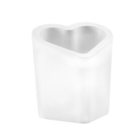 Casier à bouteilles lumineux Mon amour, Slide Design blanc