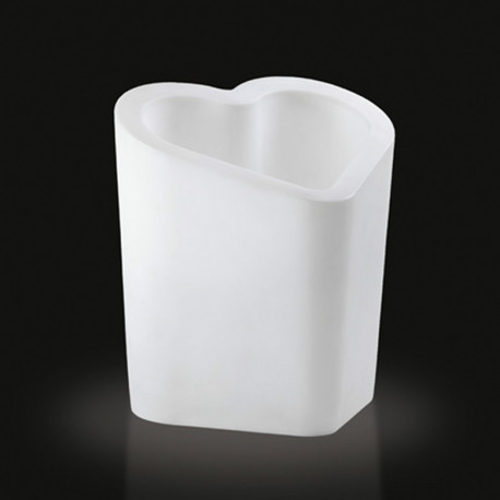 Pot design lumineux Mon amour, Slide design blanc