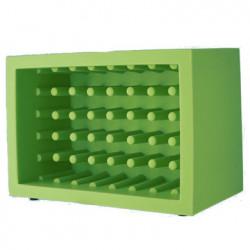 Casier à bouteilles Bachus, Slide design vert