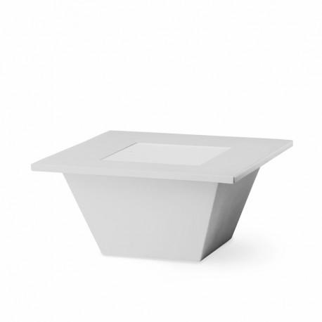 Table basse Bench, Slide design blanc