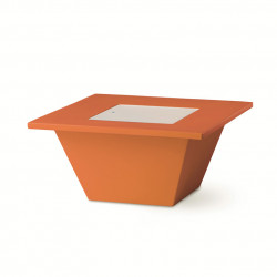 Table basse Bench, Slide design orange