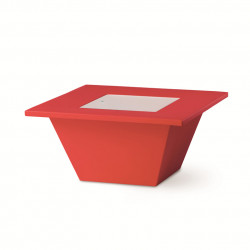 Table basse Bench, Slide design rouge