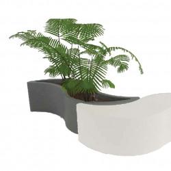 Jardinière Wave, Slide Design gris