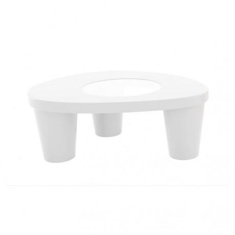 Table basse Low Lita, Slide Design blanc