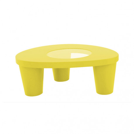 Table basse Low Lita, Slide Design jaune