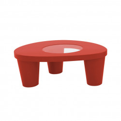 Table basse Low Lita, Slide Design rouge