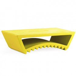 Table basse design Tac, Slide Design jaune
