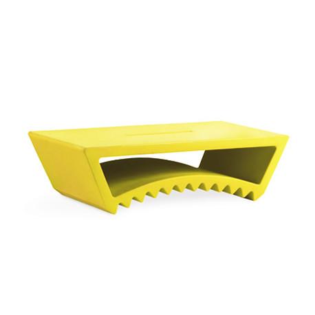 Table basse design Tac, Slide Design jaune