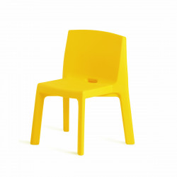 Chaise Q4, Slide design jaune
