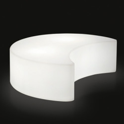 Banc - table basse, lumineux Moon, Slide Design blanc