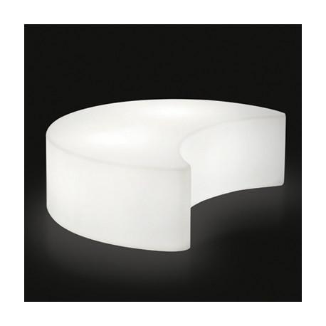 Banc - table basse, lumineux Moon, Slide Design blanc