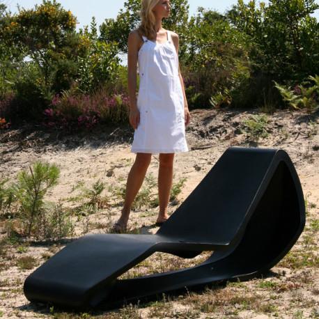 Chaise longue Organic Lawn, Qui est Paul ? noir