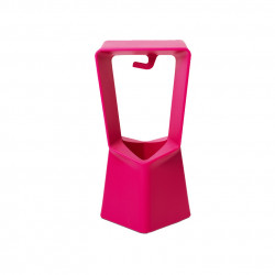 Kenny, tabouret contemporain, Qui est Paul? fuchsia
