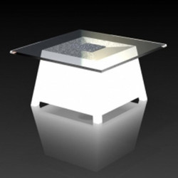 Table basse lumineuse Raffy Indoor, Qui est Paul? blanc