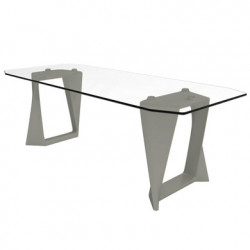 Table Iso, Qui est paul ? gris L220cm