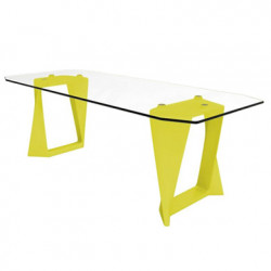 Table Iso, Qui est paul ? jaune L220cm