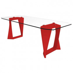 Table Iso, Qui est paul ? rouge L220cm