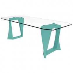 Table Iso, Qui est paul ? turquoise L220cm