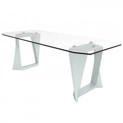 Table Iso, Qui est paul ? blanc L220cm