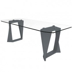 Table Iso, Qui est paul ? gris anthracite L220cm