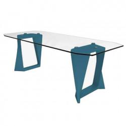 Table Iso, Qui est paul ? bleu L220cm