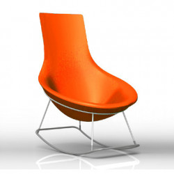 Rocking Chair Tom Yam, Qui est Paul? orange