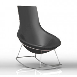 Rocking Chair Tom Yam, Qui est Paul? gris anthracite