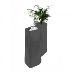 Pot Rock Garden Tall, Qui est Paul? gris anthracite
