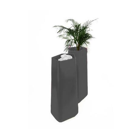 Pot Rock Garden Tall, Qui est Paul? gris anthracite