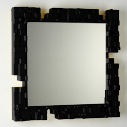 Miroir mural Pixel, Slide Design noir