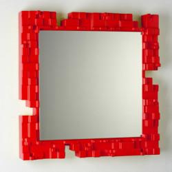 Miroir mural Pixel, Slide Design rouge