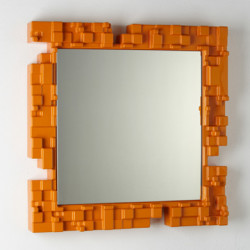 Miroir mural Pixel, Slide Design orange