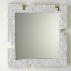 Miroir mural Pixel, Slide Design blanc