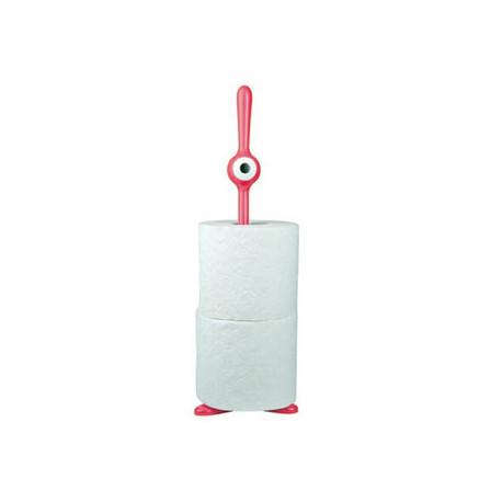 Dévidoir papier WC TOQ, Koziol rose/rouge