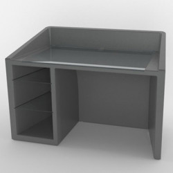 Kanal bureau, Slide Design gris