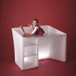 Kanal bureau lumineux, Slide Design blanc