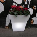 Pot Il Vaso lumineux, Slide Design blanc Grand modèle
