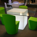 Table lumineuse Square, Slide Design blanc