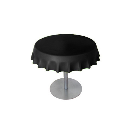 Fizzz, table basse ronde design, Slide Design noir