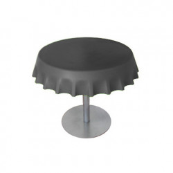 Fizzz, table basse ronde design, Slide Design gris