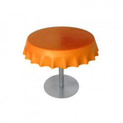Fizzz, table basse ronde design, Slide Design orange