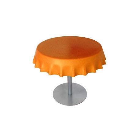 Fizzz, table basse ronde design, Slide Design orange