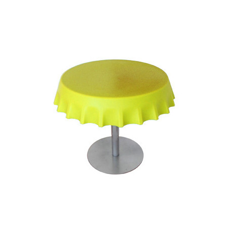 Fizzz, table basse ronde design, Slide Design jaune