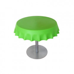 Fizzz, table basse ronde design, Slide Design vert